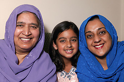 Portrait of mother; daughter and granddaughter,