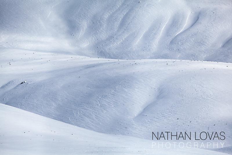 Snowy ridges in Lamar Valley;  Yellowstone NP.