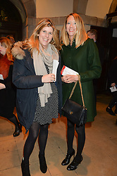 Left to right, KATIE ELLIOT and the HON.FLORA GOODWIN at the fourth annual Fayre of St James's charity Christmas concert hosted by the Quintessentially Foundation and The Crown Estate in partnership with Deutsche Asset & Wealth Management held at  St James's Church, 197 Piccadilly, London followed by a party at Quaglino's 16 Bury Street, London on 24th November 2015.
