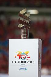 BANGKOK, THAILAND - Sunday, July 28, 2013: The Standard Chartered trophy during a preseason friendly match at the Rajamangala National Stadium. (Pic by David Rawcliffe/Propaganda)