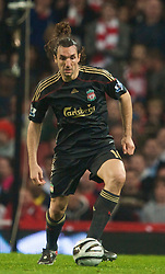 LONDON, ENGLAND - Wednesday, October 28, 2009: Liverpool's Sotirios Kyrgiakos during the League Cup 4th Round defeat by Arsenal at Emirates Stadium. (Photo by David Rawcliffe/Propaganda)