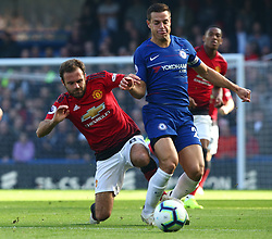 October 20, 2018 - London, England, United Kingdom - London, England - October 20: 2018.L-R Manchester United's Juan Mata tackles Chelsea's Cesar Azpilicueta.during Premiership League between Chelsea and Manchester United at Stamford Bridge stadium , London, England on 20 Oct 2018. (Credit Image: © Action Foto Sport/NurPhoto via ZUMA Press)