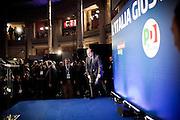 ROMA. IL SEGRETARIO DEL PARTITO DEMOCRATICO PIERLUGII BERSANI DURANTE LA CONFERENZA STAMPA POST ELEZIONI;