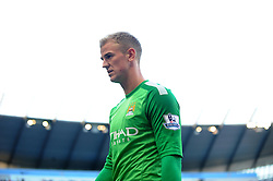 Manchester City's Joe Hart - Photo mandatory by-line: Dougie Allward/JMP - Tel: Mobile: 07966 386802 22/09/2013 - SPORT - FOOTBALL - City of Manchester Stadium - Manchester - Manchester City V Manchester United - Barclays Premier League