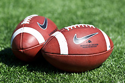 BERKELEY, CA - SEPTEMBER 08: Detailed view of two Nike footballs on the field before the game between the California Golden Bears and the Southern Utah Thunderbirds at Memorial Stadium on September 8, 2012 in Berkeley, California. The California Golden Bears defeated the Southern Utah Thunderbirds 50-31. (Photo by Jason O. Watson/Getty Images) *** Local Caption ***