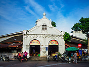 22 AUGUST 2018 - GEORGE TOWN, PENANG, MALAYSIA:  The Campbell Street Market in George Town. It's one of the original wet markets in George Town.     PHOTO BY JACK KURTZ