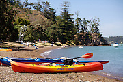 kayaks on waterfront at Russell