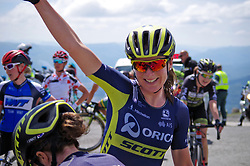 Annemiek van Vleuten (NED) of Orica Scott Cycling Team celebrates winning Stage 4 the Emakumeen Bira - a 58 km road race, between Etxarri Aranatz and San Miguel on May 20, 2017, in Basque Country, Spain. (Photo by Saul Miguel/Velofocus)