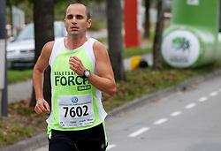 Goran Muric compete during 21km and 42km run at 19th Ljubljana Marathon 2014 on October 26, 2014 in Ljubljana, Slovenia. Photo by Vid Ponikvar / Sportida.com