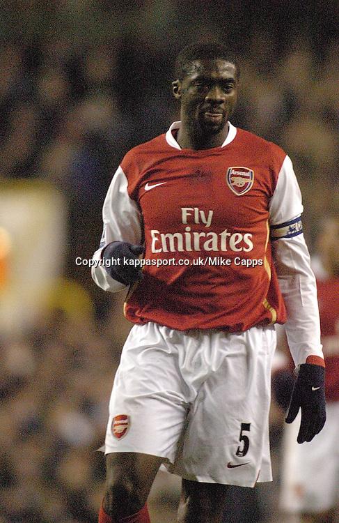 KOLO TOURE, (IVO), Arsenal, Tottenham, Tottenham Hotspur-Arsenal, Carling Cup 1st Leg Semi Final 24/1/2007