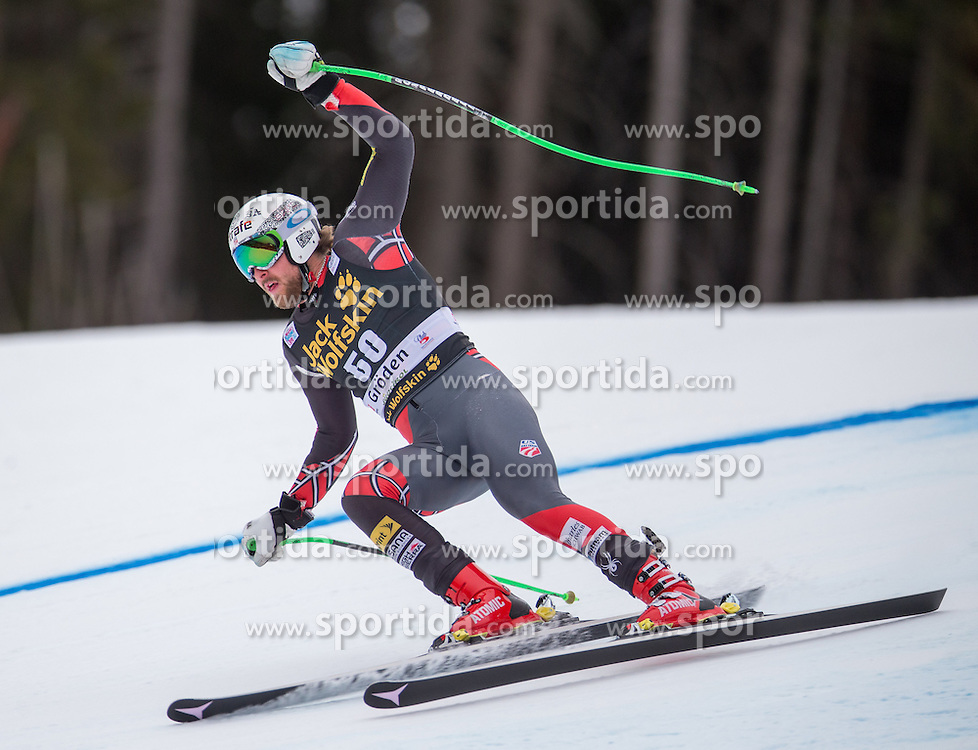 16.12.2015, Saslong, Groeden, ITA, FIS Ski Weltcup, Herren, Abfahrt, 1. Training, im Bild Wiley Maple (USA) // Wiley Maple of the USA in action 1st downhill practice of the Groeden FIS Ski Alpine World Cup at the Saslong Course in Gardena, Italy on 2015/12/16. EXPA Pictures © 2015, PhotoCredit: EXPA/ Johann Groder
