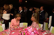 The Marchioness of Douro and Princess Michael of Kent. Cartier dinner after thecharity preview of the Chelsea Flower show. Chelsea Physic Garden. 23 May 2005. ONE TIME USE ONLY - DO NOT ARCHIVE  © Copyright Photograph by Dafydd Jones 66 Stockwell Park Rd. London SW9 0DA Tel 020 7733 0108 www.dafjones.com