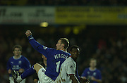 10/01/2004 - Evertons' Duncan FERGUSON. Photo  Peter Spurrier.2003/04 Barclaycard Premiership Fulham v Everton.
