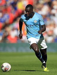 "Manchester City's Benjamin Mendy during the Community Shield match at Wembley Stadium, London. PRESS ASSOCIATION Photo. Picture date: Sunday August 5, 2018. See PA story SOCCER Community Shield. Photo credit should read: Adam Davy/PA Wire. RESTRICTIONS: EDITORIAL USE ONLY No use with unauthorised audio, video, data, fixture lists, club/league logos or ""live"" services. Online in-match use limited to 75 images, no video emulation. No use in betting, games or single club/league/player publications."