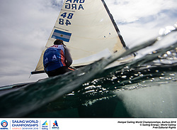 Aarhus, Denmark is hosting the 2018 Hempel Sailing World Championships from 30 July to 12 August 2018. More than 1,400 sailors from 85 nations are racing across ten Olympic sailing disciplines as well as Men's and Women's Kiteboarding. <br /> 40% of Tokyo 2020 Olympic Sailing Competition places will be awarded in Aarhus as well as 12 World Championship medals. ©JESUS RENEDO/SAILING ENERGY/AARHUS 2018<br /> 02 August, 2018.