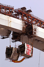 Lupu Bridge Construction, China, 2003