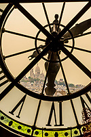 "One of the clocks at Musee d""Orsay,  a museum in Paris, France, on the Left Bank of the Seine. It is housed in the former Gare d'Orsay, a Beaux-Arts railway station built between 1898 and 1900."