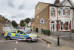 FILE PICTURE © Licensed to London News Pictures. 21/09/2017. London, UK.  Police guard a house belonging to Sabrina Kouider and her partner Ouissem Medouni where police and the fire brigade attended and found the burnt body of their nanny Sophie Lionnet in the garden in Wimbledon, south London. Kouider and Medouni, who are both French nationals, deny murder but have admitted perverting the course of justice by burning the body. Photo credit: Peter Macdiarmid/LNP