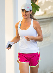 Embargoed to 0001 Wednesday December 28 File photo dated 20/07/16 of Pippa Middleton, sister of the Duchess of Cambridge, on a run outside her London home a day after she announced her engagement to financier James Matthews.