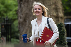 London, UK. 30th April 2019. Elizabeth Truss MP, Chief Secretary to the Treasury, arrives at 10 Downing Street for a Cabinet meeting.