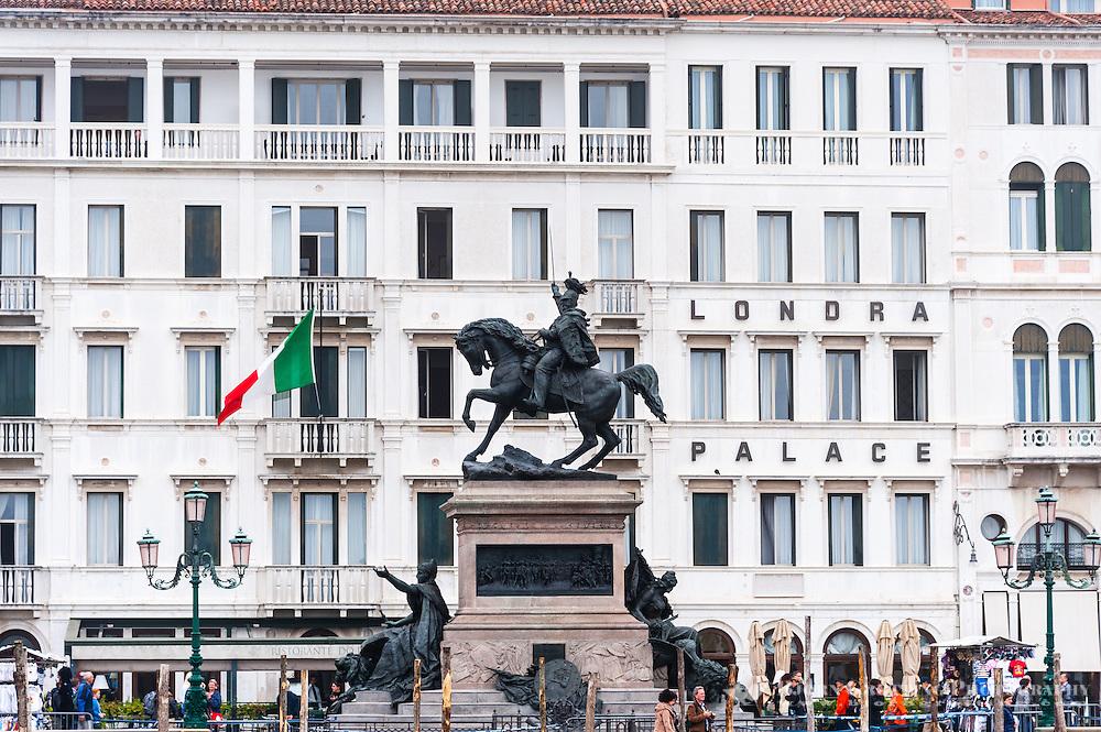 Italy, Venice. Statue near Doge's Palace