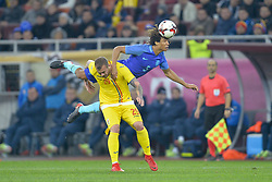 November 14, 2017 - Bucharest, Romania - Netherlands's Nathan Aké vies Romania Denis Alibec during International Friendly match between Romania and Netherlands at National Arena Stadium in Bucharest, Romania, on 14 november 2017. (Credit Image: © Alex Nicodim/NurPhoto via ZUMA Press)