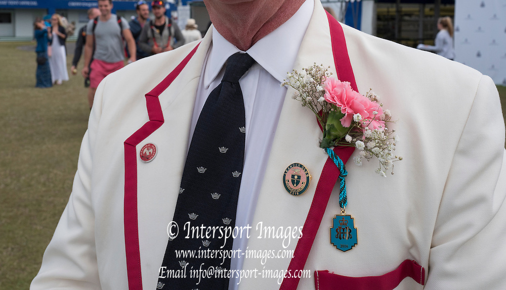 Henley on Thames. United Kingdom.      Badges and Button Hole decorations.  Saturday 02/07/2016,    2016 Henley Royal Regatta, Henley Reach.   [Mandatory Credit Peter Spurrier/ Intersport Images]
