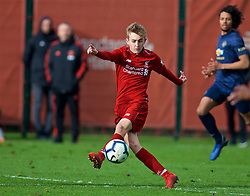KIRKBY, ENGLAND - Saturday, January 26, 2019: Liverpool's Jake Cain during the FA Premier League match between Liverpool FC and Manchester United FC at The Academy. (Pic by David Rawcliffe/Propaganda)
