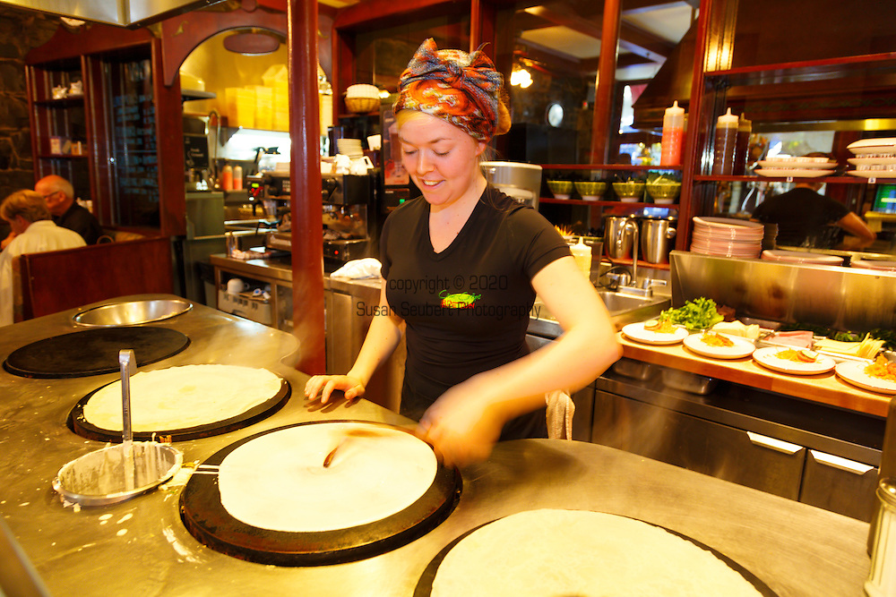 Casse Crepe Breton, a restaurant specializing in traditional crepes in Vieux Quebec, Quebec City, Canada