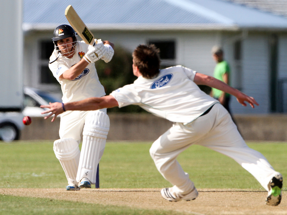 Wellington Michael Papps plays a shot against Central District's on the first day of thier Plunket Shield cricket match being played at Nelson Park, Napier, New Zealand, Monday, November 07, 2011 Credit: SNPA / John Cowpland