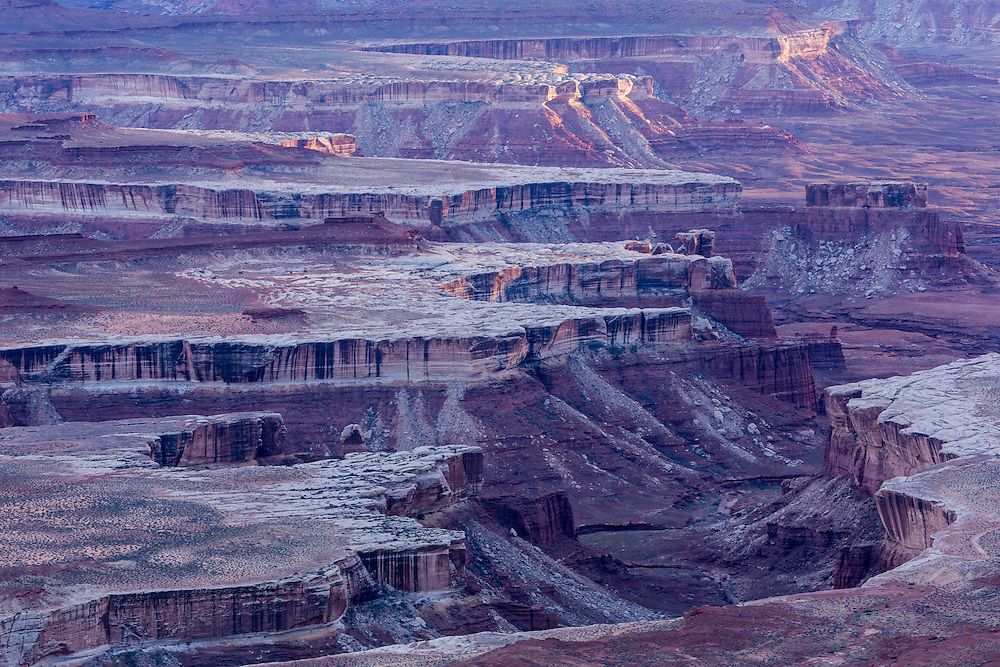 late day light on the canyon rim, Canyonlands National Park, Utah