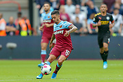 West Ham United midfielder Manuel Lanzini (10) during the Premier League match between West Ham United and Manchester City at the London Stadium, London, England on 10 August 2019.