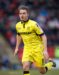 LONDON, ENGLAND - Saturday, February 9, 2013: Tranmere Rovers' Adam McGurk in action against Leyton Orient during the Football League One match at Brisbane Road. (Pic by David Rawcliffe/Propaganda)