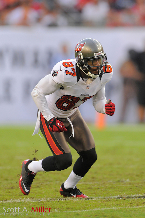 Tampa Bay Buccaneers wide receiver Preston Parker (87) during the Bucs game against the Carolina Panthers at Raymond James Stadium  on September 9, 2012 in Tampa, Florida.  The Bucs won 16-10..©2012 Scott A. Miller...