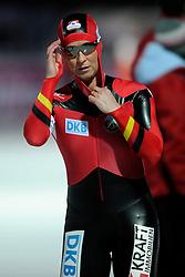 06-01-2011 SCHAATSEN: EC ALLROUND: BUDAPEST<br /> 500 meter / Claudia Pechstein GER<br /> ©2011-FotoHoogendoorn.nl