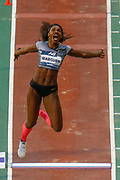 Caterine Ibargüen (Colombia) Women's Long Jump during the IAAF Diamond League event at the King Baudouin Stadium, Brussels, Belgium on 6 September 2019.