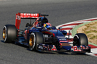 VERSTAPPEN max (ned) toro rosso str10 renault action during Formula 1 winter tests 2015 at Barcelona, Spain from February 19th to 22nd. Photo DPPI / Florent Gooden.