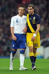 15.11.2011, Wembley Stadium, London, ENG, FSP, England (ENG) vs Schweden (SWE), im Bild England's John Terry in action against Sweden's Johan Elmander // during the international friendlies football match between England (ENG) and Sweden (SWE) at Wembley Stadium, London, United Kingdom on 15/11/2011. EXPA Pictures © 2011, PhotoCredit: EXPA/ Sportida/ Chris Brunskill..***** ATTENTION - OUT OF ENG, GBR, UK *****