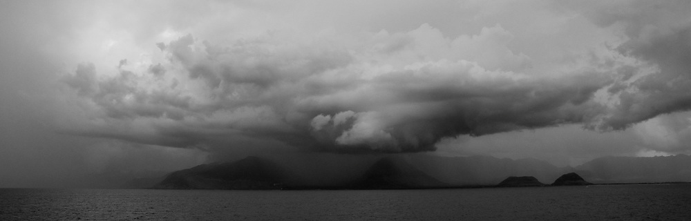 Waianae Mountains and Thunderstorm