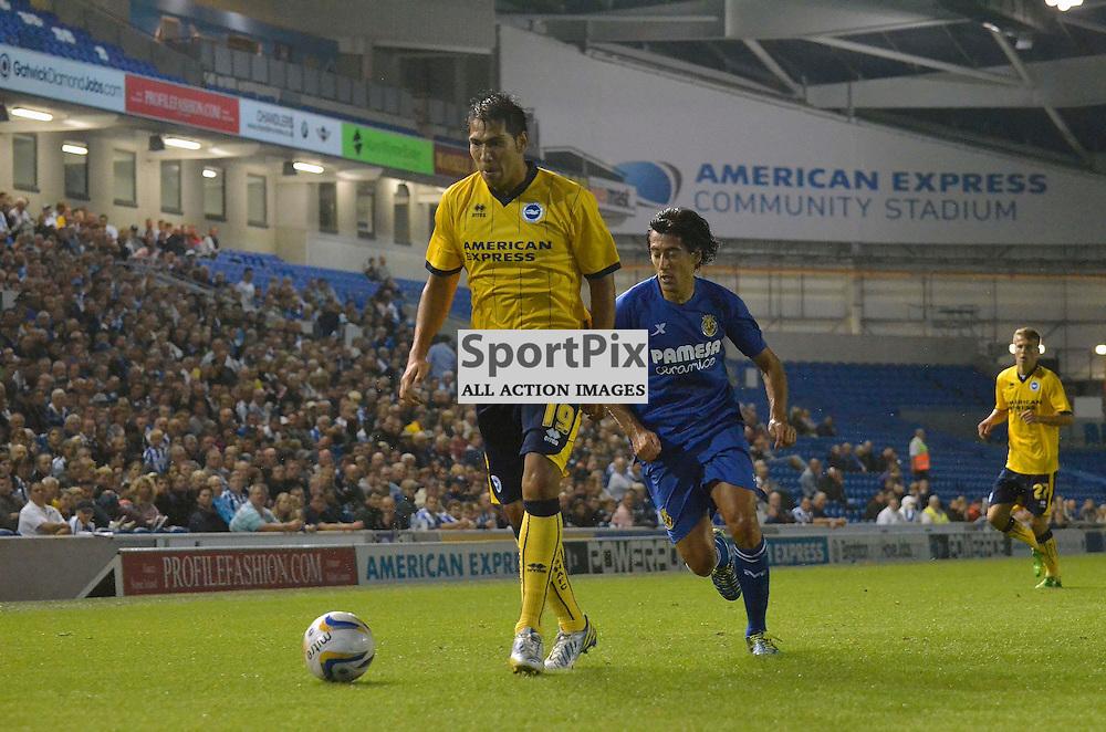 Leonardo Ulloa on the ball. (c) Michael Hulf | SportPix.org.uk