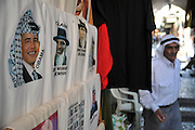 Israel, Jerusalem, Old City, the Market Street President Obama wearing a keffiyeh printed on a T-shirt
