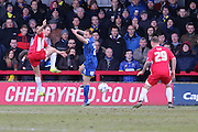 Barry Fuller (Captain) defender for AFC Wimbledon (2) in action during the Sky Bet League 2 match between AFC Wimbledon and Accrington Stanley at the Cherry Red Records Stadium, Kingston, England on 5 March 2016. Photo by Stuart Butcher.