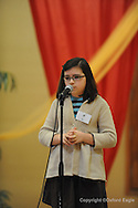 Regents School 5th grader Camille Gladden participates inThe Mississippi Association of Independent Schools District I East Spelling Bee at the Oxford University United Methodist Church's Activity Center on Thursday, February 19, 2010. Schools participating are Kirk Academy, Marshall Academy, Magnolia Heights, North Delta, Regents, and Oxford University School.