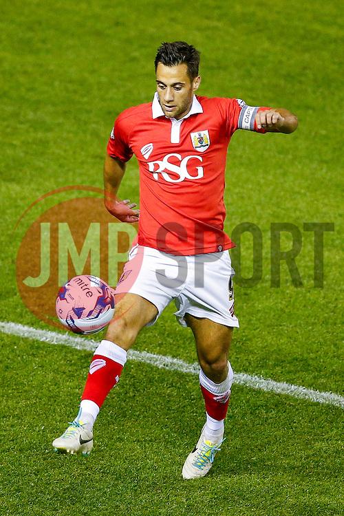 Sam Baldock of Bristol City in action - Photo mandatory by-line: Rogan Thomson/JMP - 07966 386802 - 12/04/2014 - SPORT - FOOTBALL - Ashton Gate, Bristol - Bristol City v Oxford United - Capital One Cup Round 1.