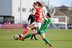 Ella Rutherford of Bristol City is challenged by Charlotte Buxton of Yeovil Town Ladies - Mandatory by-line: Nizaam Jones/JMP - 27/01/2019 - FOOTBALL - Stoke Gifford Stadium - Bristol, England - Bristol City Women v Yeovil Town Ladies- FA Women's Super League 1