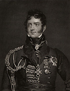 Henry Torrens (1779-1828) English soldier. Military secretary to General Wellesley (later Duke of Wellington) in Portugal 1808 in the Peninsular campaign. Major-general 1814.  Engraving after portrait by Thomas Lawrence.