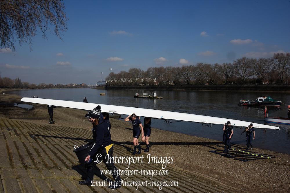 Putney. London,  Great Britain.<br /> <br /> 2016 Tideway Week, Putney. Putney Embankment, Championship Course. River Thames.<br /> <br /> Tuesday  22/03/2016 <br /> <br /> [Mandatory Credit; Intersport-images]