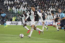 May 19, 2019 - Turin, Piedmont, Italy - Cristiano Ronaldo (Juventus FC) during the Serie A football match between Juventus FC and Atalanta BC at Allianz Stadium on May 19, 2019 in Turin, Italy. (Credit Image: © Massimiliano Ferraro/NurPhoto via ZUMA Press)