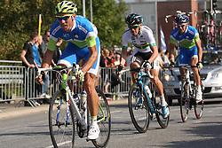 Kristjan Koren and Borut Bozic (Slovenia) during the Men's Elite Road Race at the UCI Road World Championships on September 25, 2011 in Copenhagen, Denmark. (Photo by Marjan Kelner / Sportida Photo Agency)