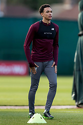 LIVERPOOL, ENGLAND - Monday, February 18, 2019: Liverpool's Trent Alexander-Arnold during a training session at Melwood ahead of the UEFA Champions League Round of 16 1st Leg match between Liverpool FC and FC Bayern München. (Pic by Paul Greenwood/Propaganda)